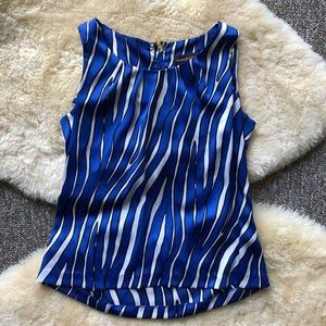 Dana Buchman Animal Zebra Print Sleeveless Blouse